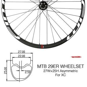 Image 1 - Bicicleta de Montaña de carbono XC/Trail wheels, con cubierta de eje pasante, sin tubo, 27mm de ancho
