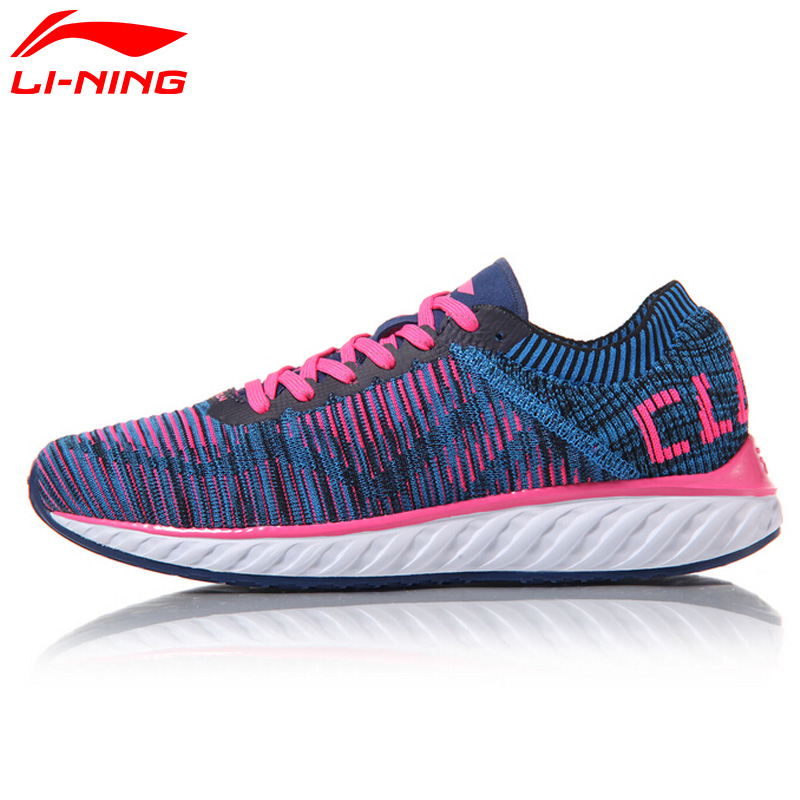 Li Ning Women's Cloud IV Professional Running Shoes Breathable LiNing Sneakers MONO YARN Sports Shoes ARHM034 li ning men s fission iii wade professional basketball shoes lining cloud sneakers breathable sports shoes abam025 xyl109