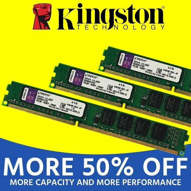 Kingston memória ram, memória com módulo de computador, pc e desktop 1gb 2gb pc2 ddr2 4gb ddr3 8gb 667mhz 800mhz 1333mhz 1600mhz 8gb 1600