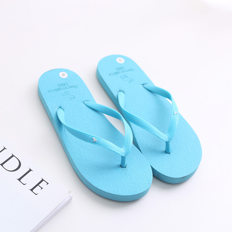 Women Flat Slippers Flip Flops Summer Beach Breathable Outdoor Shoes Men Slippers Bathroom Slip On Home Slippers Drop Shipping