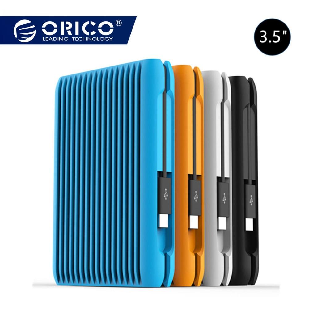 ORICO 2 TO USB3.1 Gen2 TYPE-C 3.5 10 Gbit/S À Grande vitesse Externe Antichoc Disques Durs HDD Ordinateur Portable Disque Dur Mobile Prise UE