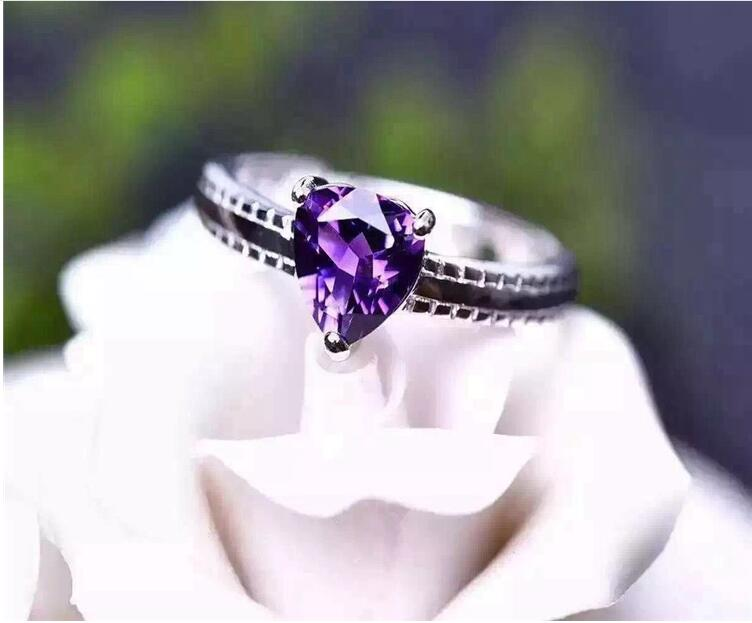 Amethyst ring Free shipping Natural and real amethyst 925 sterling silver Women ringsAmethyst ring Free shipping Natural and real amethyst 925 sterling silver Women rings