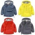 Niños con capucha de esquí-desgaste, invierno 2016 de Corea Del sur estilo nueva ropa del bebé del muchacho inclinado 5751 párrafo cremallera agregar abrigo de lana Gruesa