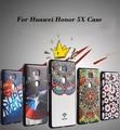 За Честь 5X Shell 3D Цветной рисунок Мягкий Чехол Кремния Для Huawei Honor 5X Мобильный Телефон Задняя Крышка