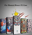 Para honra 5x shell desenho colorido 3d caixa do silicone macio para huawei honor 5x tampa traseira do telefone móvel