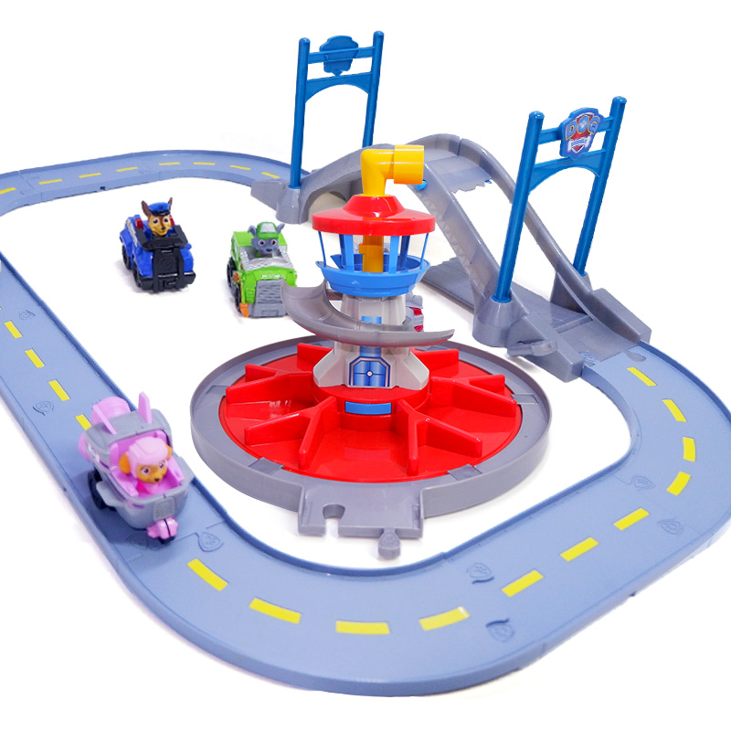 Paw Patrol Rescue track toy set Patrulla Canina Juguetes Action Figures Patrol Puppy Patrol play set