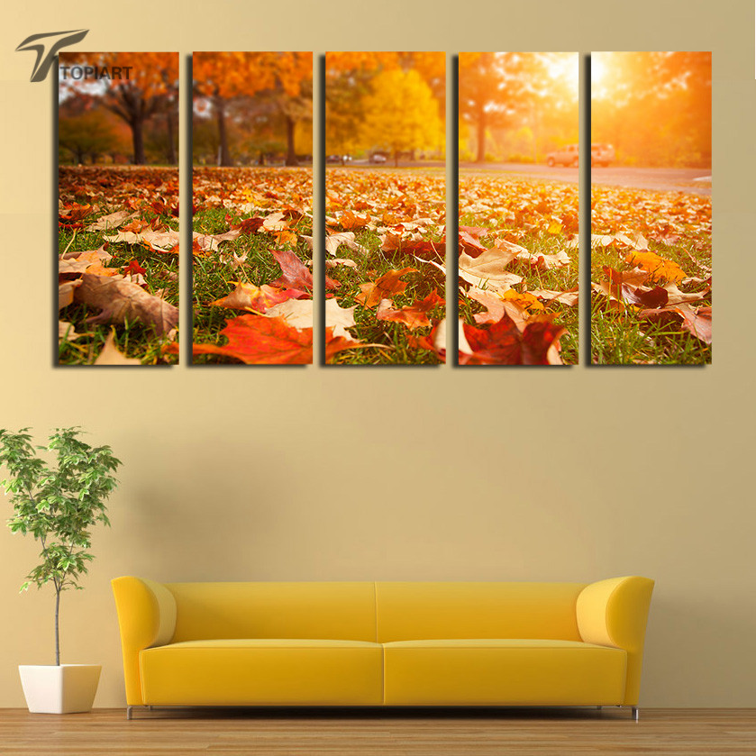 Online buy wholesale autumn leaves art from china autumn for Modern fall home decor