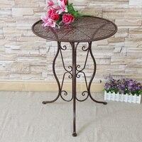 Круглый металлический для отдыха Чай Таблица Уголок балкон Кофе Таблица творческих Стиль столик