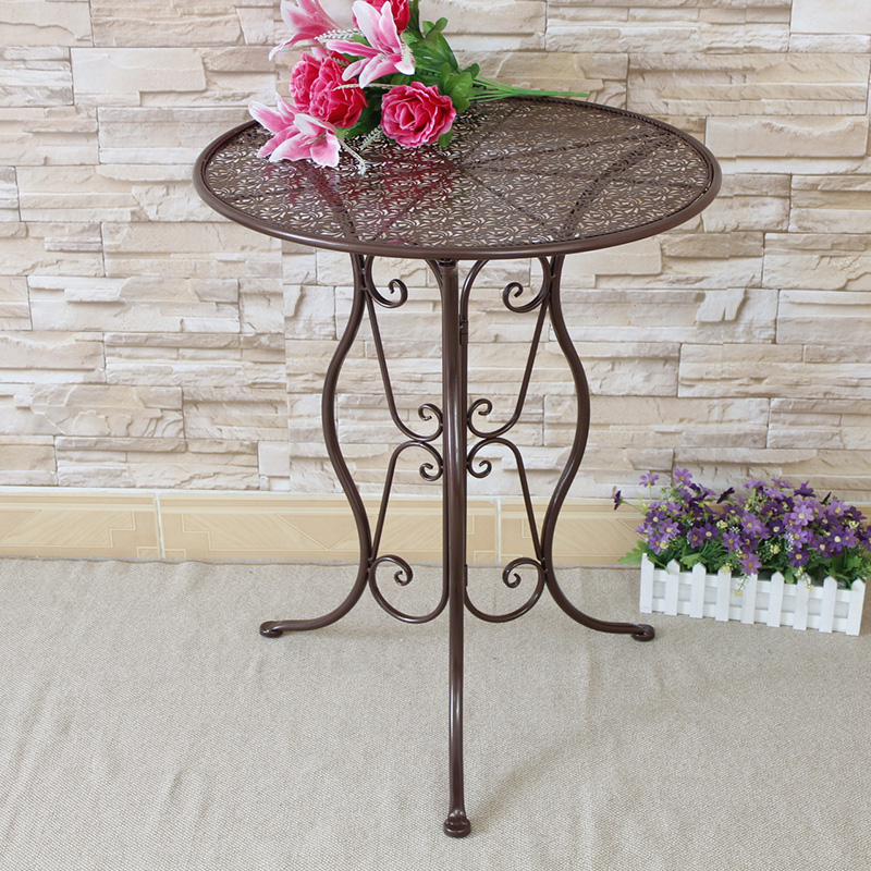 Metal Round Leisure Tea Table Corner Balcony Coffee Table Simple Creative Style Side Table