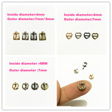 Free shipping 100pcs/lot Mini Buckle Metal Shoes Little Buckles Clips Sewing Buckles For doll clothes Bags Sewing Accessories