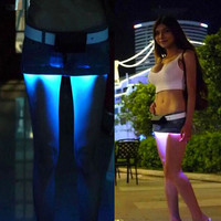 Fashion Mini LED Sexy Skirt Party Nightclub Mini Skirts Fashion Female Fitted Tight All over Skirt
