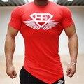 2017 Muscular Irmãos Gymshark T-shirt Magro Modal Fina Camiseta Da Marca de Verão dos homens de Fitness Musculação Longarina