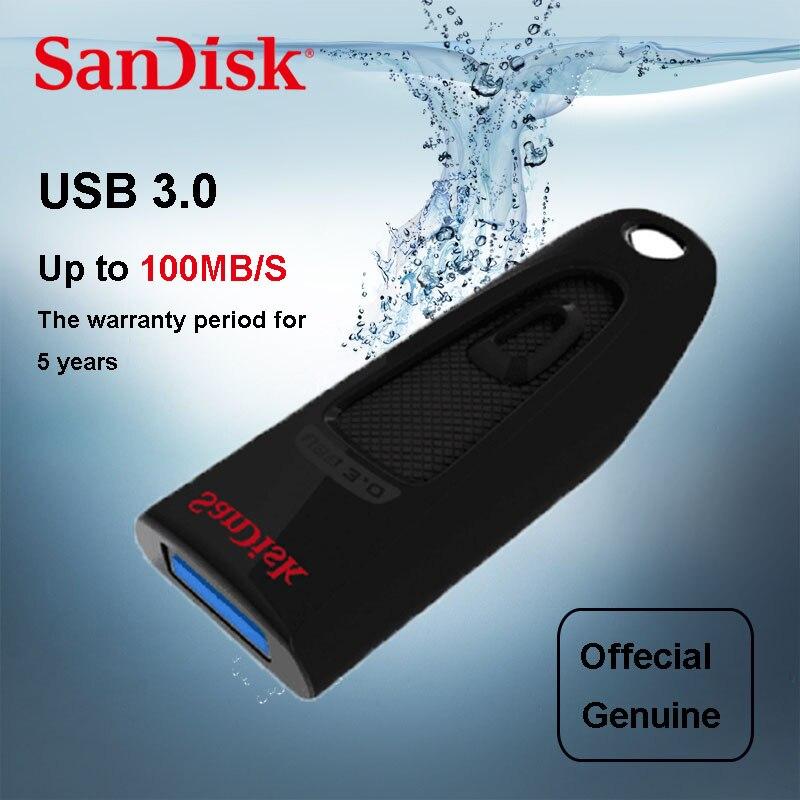 SanDisk CZ48 USB Flash Drive 16GB 32GB 64GB 128GB USB Memory Stick high Speed 100MB/S USB stick Pen Drive 3.0 PenDrives