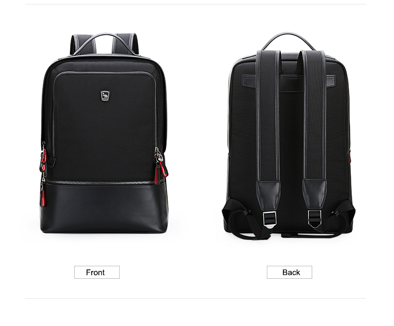 OIWAS Men Women Nylon Leather Laptop Backpack Waterproof Business Computer Bag Travel School Notebook Casual OCB4387