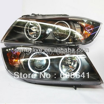 For BMW E90 CCFL Angel Eyes Head Lamp 2006-2008 year LF