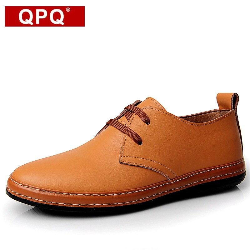 QPQ 2017 Fashion Genuine Leather Men Shoes Original Brand Summer Flats Casual Breathable Oxfords Shoes Men masculino Sapatos 2017 new flats men shoes zip round toe leather men loafers shoes fashion brand outdoor shoes casual sapatos masculino