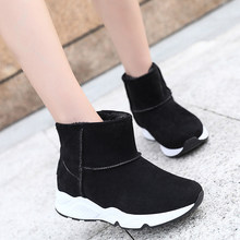 Women Snow Boots 100% Genuine Cowhide Leather Ankle Boots Warm Winter Boots Woman Shoes Large Size 36-40 Winter Shoes Women(China)