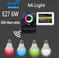 Mi Свет E27 6 Вт Wi-Fi RGBW (RGB + Теплый белый) СВЕТОДИОДНЫЕ Лампы Затемнения Лампы Беспроводной 2.4 Г контроллер Wi-Fi ibox