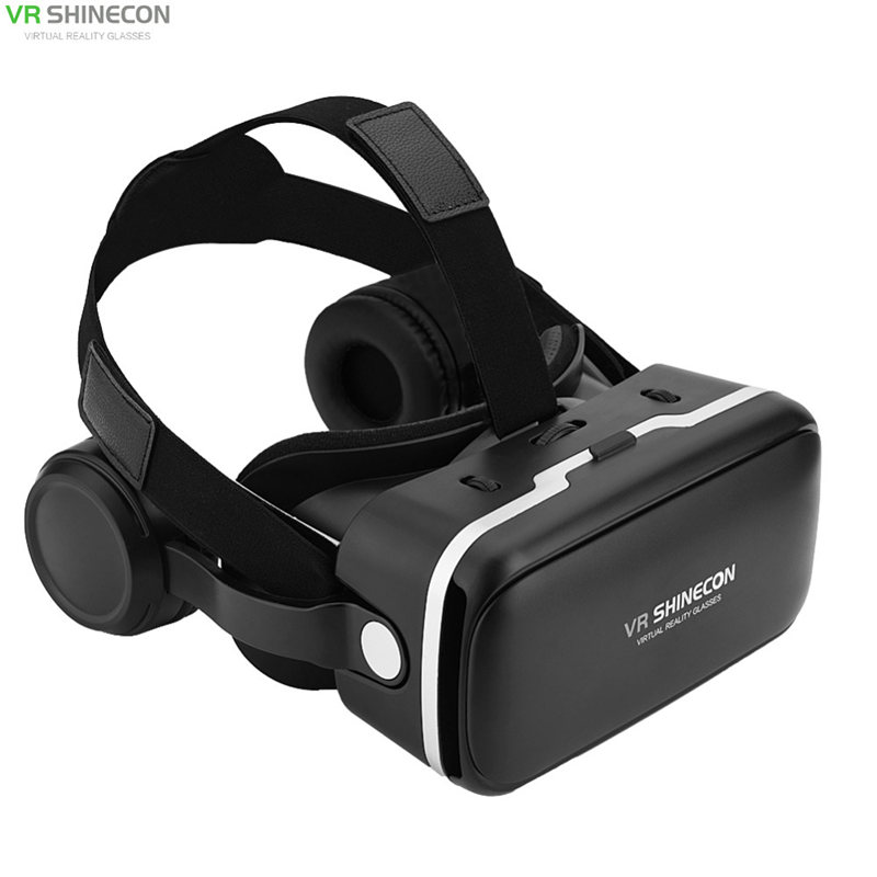 VR SHINECON 6.0 headset version virtual reality glasses 3D glasses headset smartphone+controller for galaxy s9 x-box aaa glasses