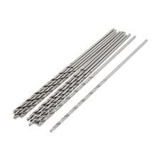 цена на Uxcell High Quality 10PCS Electric Tool 7/2.5/5.7mm Twist Drill Bit HSS High Speed Steel  Straight Shank Drilling Hole Tools
