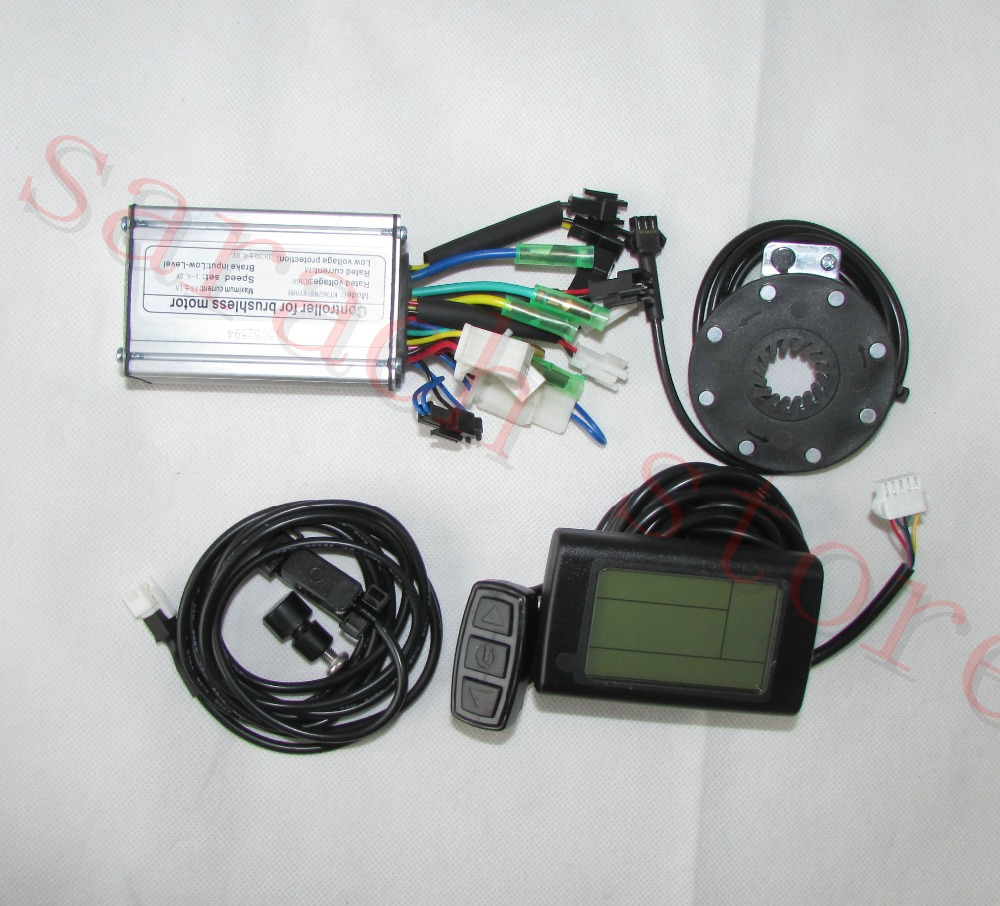 Electric Bicycle Conversion Kit Lcd Display Front Light Throttle 36v Bike Wiring 24v Motor Controller