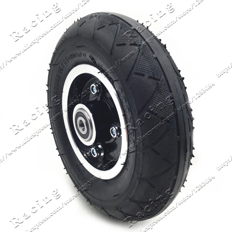 HOTEU 8 Inch Solid Tire Tyre Rubber Tire Wheel Replacement for Electric Scooter Elastic Solid Tire 200X50 Motor Tire Rear Tire Non-Slip