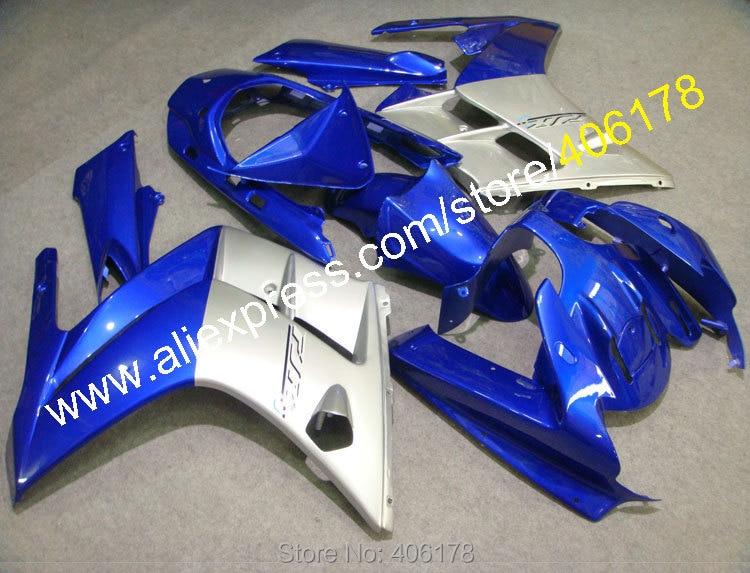 Лидер продаж, дешевые настроить Sportbike FJR 1300 2002 2006 FJR1300 02 06 синий, серый ABS тела Обтекатели для Yamaha обтекатель Наборы