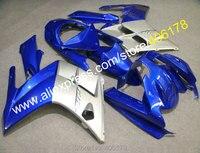 Лидер продаж, дешевые настроить sportbike FJR 1300 2002 2006 FJR1300 02 06 синий, Серый ABS Средства ухода за кожей Обтекатели для Yamaha обтекатель Наборы