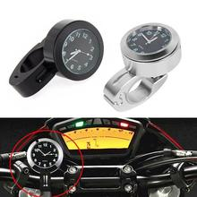 Motorcycle modified watch Harley Prince car modification 22/25MM universal clock buckle black silver