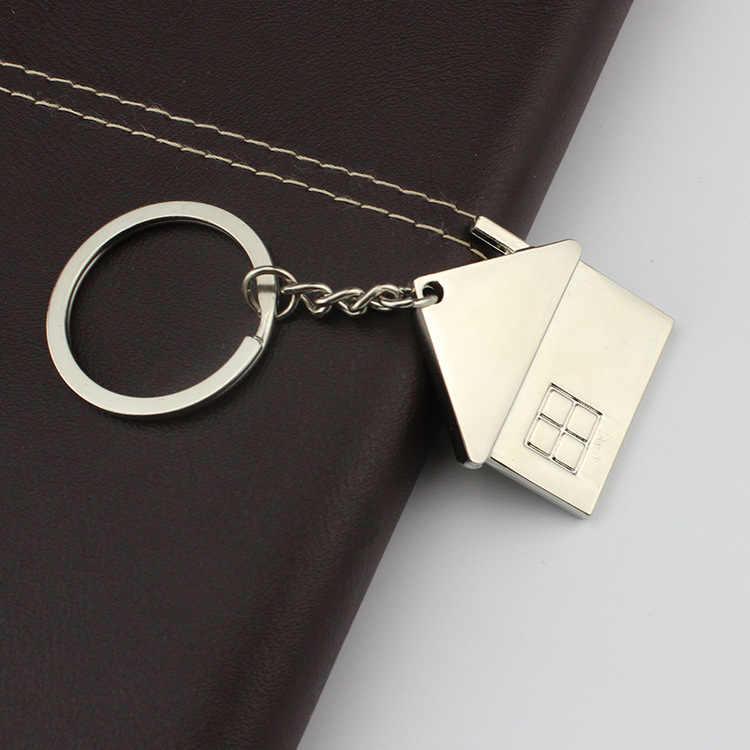 Новый мужской милый мультяшный дом с окном брелок wo Мужская симпатичная цепочка для ключей сумка Шарм для вечерние лучший подарок ювелирные изделия K2007
