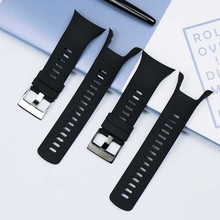 Men's Watch Accessories for SUUNTO Spartan Cool Run SpartanTrainerWrist Black Photoelectric Rubber Watch Strap стоимость