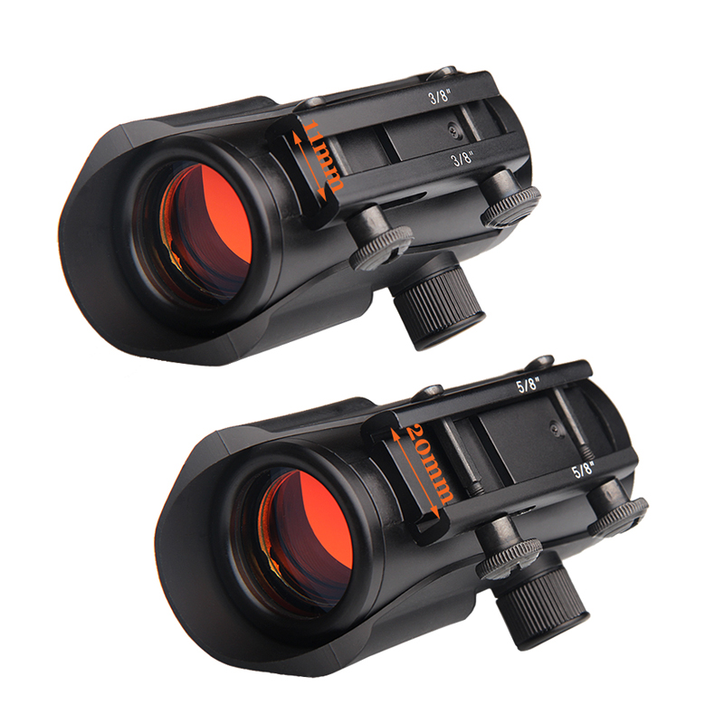 Hunting Red Dot Sight with 11 Brightness Adjustment Optical Sight Scope fit 11mm 20mm Rail Mount Tactical Riflescope RL5 0040 in Riflescopes from Sports Entertainment