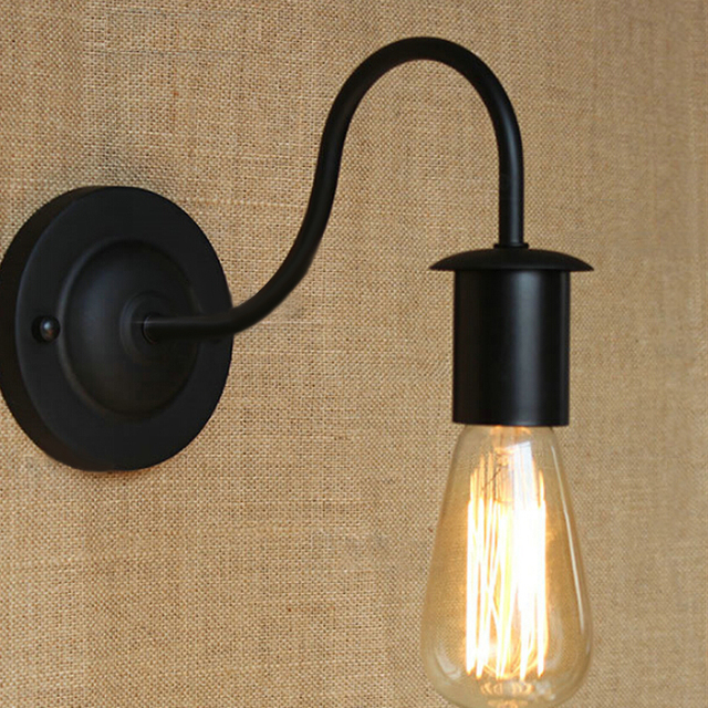 free shipping industrial style wall light loft iron simple wall