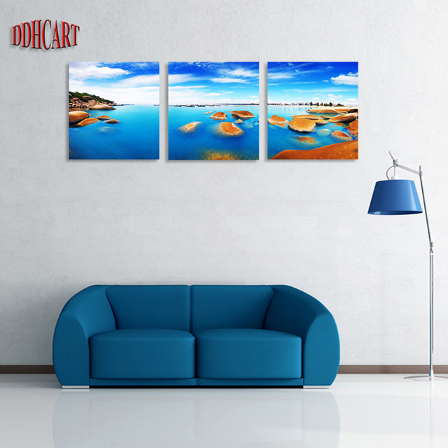 3 piece shell set hd canvas print painting artwork wall art picture oil painting home decoration