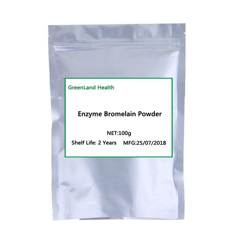 High Quality Potency Proteolytic Enzyme Bromelain Powder, Cosmetology Pineapple Extract Free Shipping