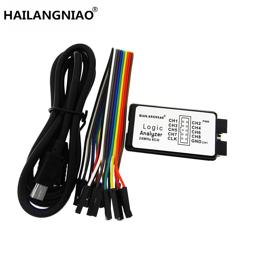 HAILANGNIAO 1sets 100%New Arrival USB Logic Analyze 24M 8CH, MCU ARM FPGA DSP Debug Tool