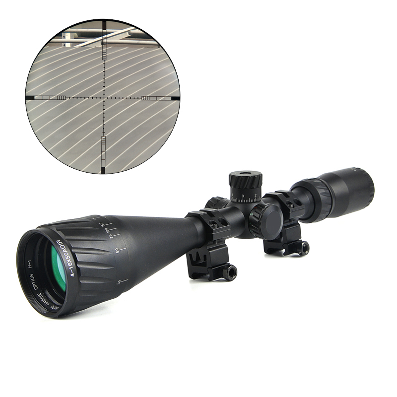 цены Hawke 4-16x50 AOIR Tactical Optical Riflescope Red &Green&Blue Illuminated Reticle Fiber Sight Rifles Scope with Free Mount