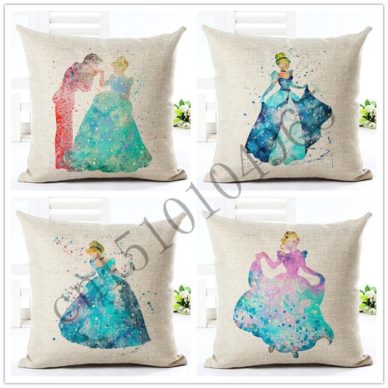 Hoge kwaliteit cartoon stijl blauwe prins home decoratieve kussen - Thuis textiel