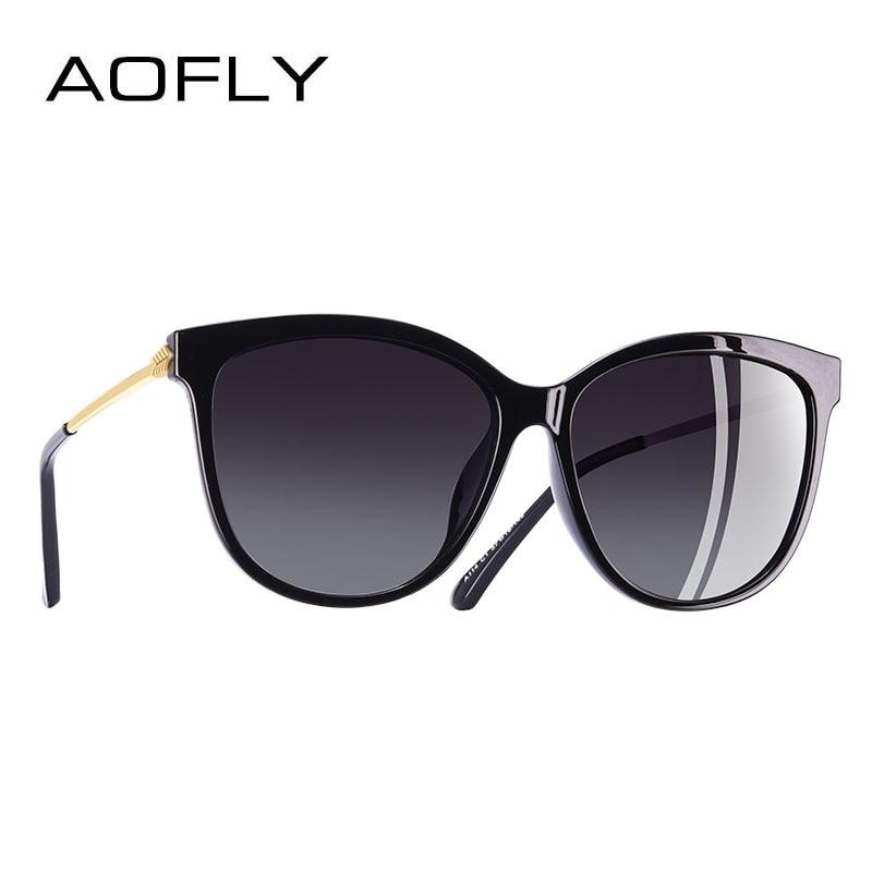 Бренд AOFLY дизайн, новые модные солнцезащитные очки Для женщин Кошачий глаз поляризованные солнцезащитные очки Óculos De Sol UV400 A114