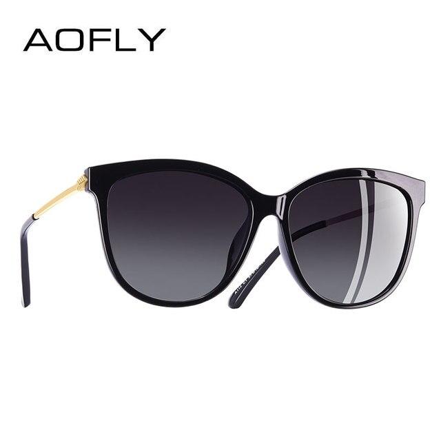 6e257b2b6164b AOFLY DESIGN DA MARCA Nova Moda óculos de Sol Olho de Gato Mulheres  Polarizada Óculos de