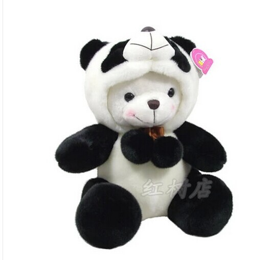 free shipping 40cm Panda with hat plush toy  Changing Faces panda doll high quality gift w0778 65cm 1pcs panda plush toy doll cute doll girl standing panda birthday gift wedding gift giant panda stuffed animal free shipping
