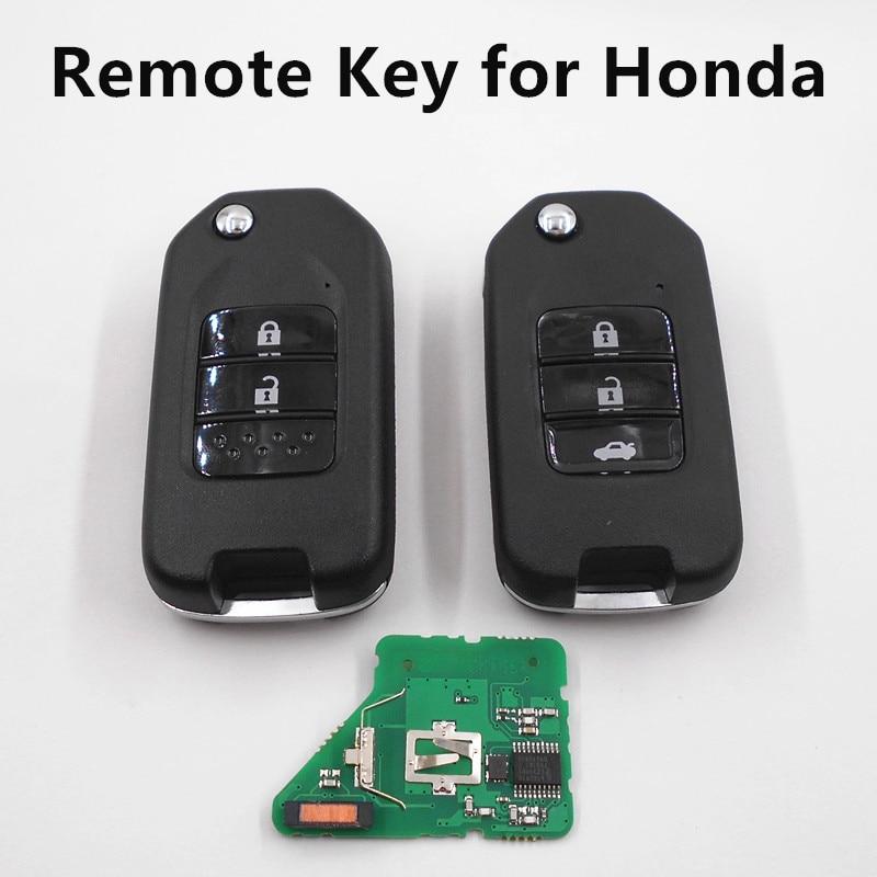 Prix pour À distance Clé 433 MHz fit pour Honda Fit Ville XRV Greaz Clé De Voiture Auto À Distance 433 MHz avec 47 Puce