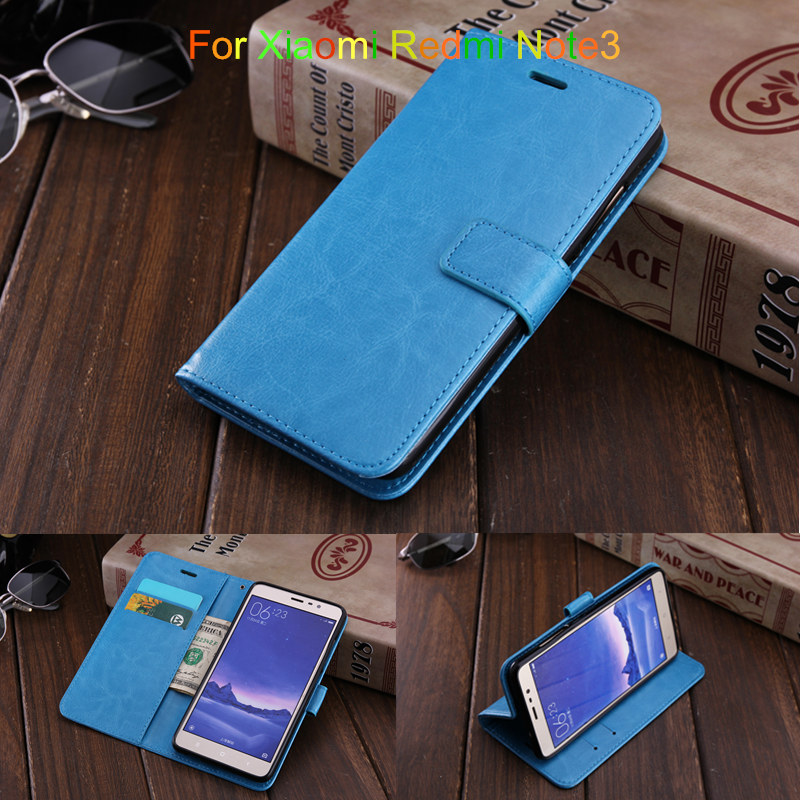 Vintage Deluxe Stand Wallet Leather Case for Xiaomi Redmi Note3 Flip Book Style font b Phone