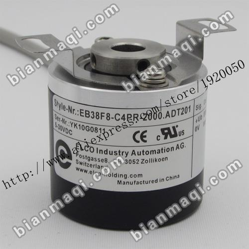 stock EB38F8-C4PR-2000.ADT201 Elco ELCO 2000 line rotary encoder hollow shaft stock eb38f8 c4pr 2000 adt201 elco elco 2000 line rotary encoder hollow shaft