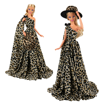 Fashion Evening Party Wedding Long Tail Doll Dress Outfit Dolls Accessories Clothes Things Items For Barbie Christmas Present e ting 1 6 fashion doll clothes western style dress lace wedding evening party girls suit hat veil accessories for barbie doll