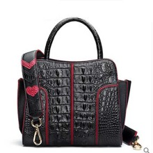 hlt Thai crocodile women handbag female real leather 2017 new European and American fashion collision dinner single shoulder bag