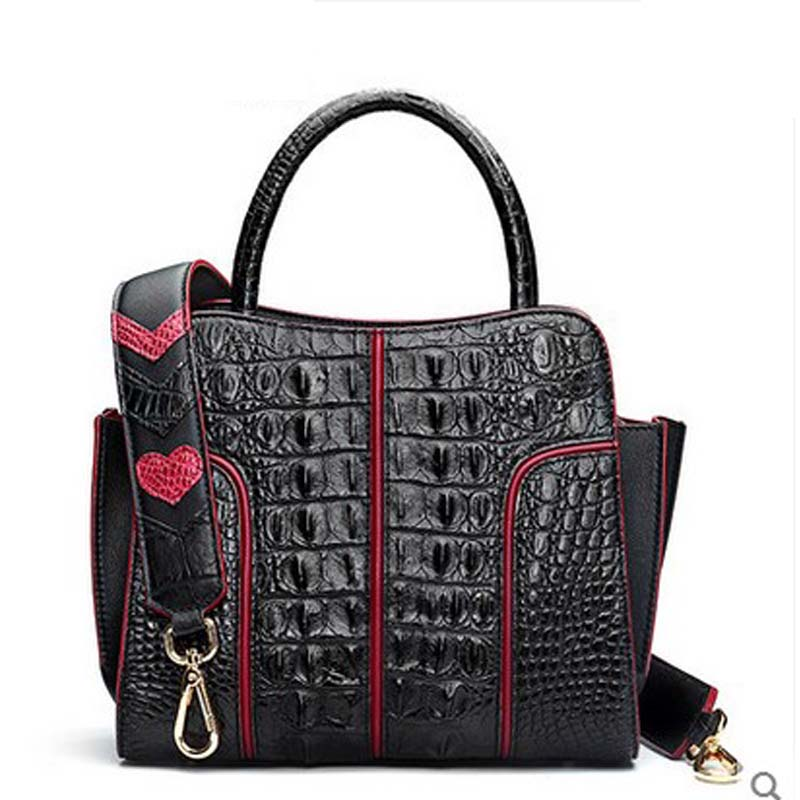 hlt Thai crocodile women handbag female real leather 2017 new European and American fashion collision dinner single shoulder bag yuanyu 2018 new hot free shipping real thai crocodile women handbag female bag lady one shoulder women bag female bag