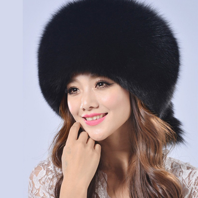 2016 Winter New Pattern Imitate Fox Fur Straw Hat You Dome Keep Warm Lei Feng Hat Thickening Russian Hat  B02