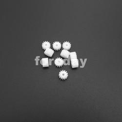 20 piezas X 0,5 M 13 T 2A 13 dientes 1,95mm engranaje recto de plástico 0,5 módulo T = 13 Apertura: 2mm DIY accesorios modelo 20 piezas/LOT * FD223X20