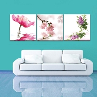 Flower In Water Wall Art Painting On Canvas Living Room Wall Decor Oil Painting Set Free